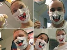 Funny dentist masks to reduce kids fears