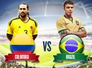 Watch Brazil Vs Colombia match tonight at Applebee's Gulf Branch