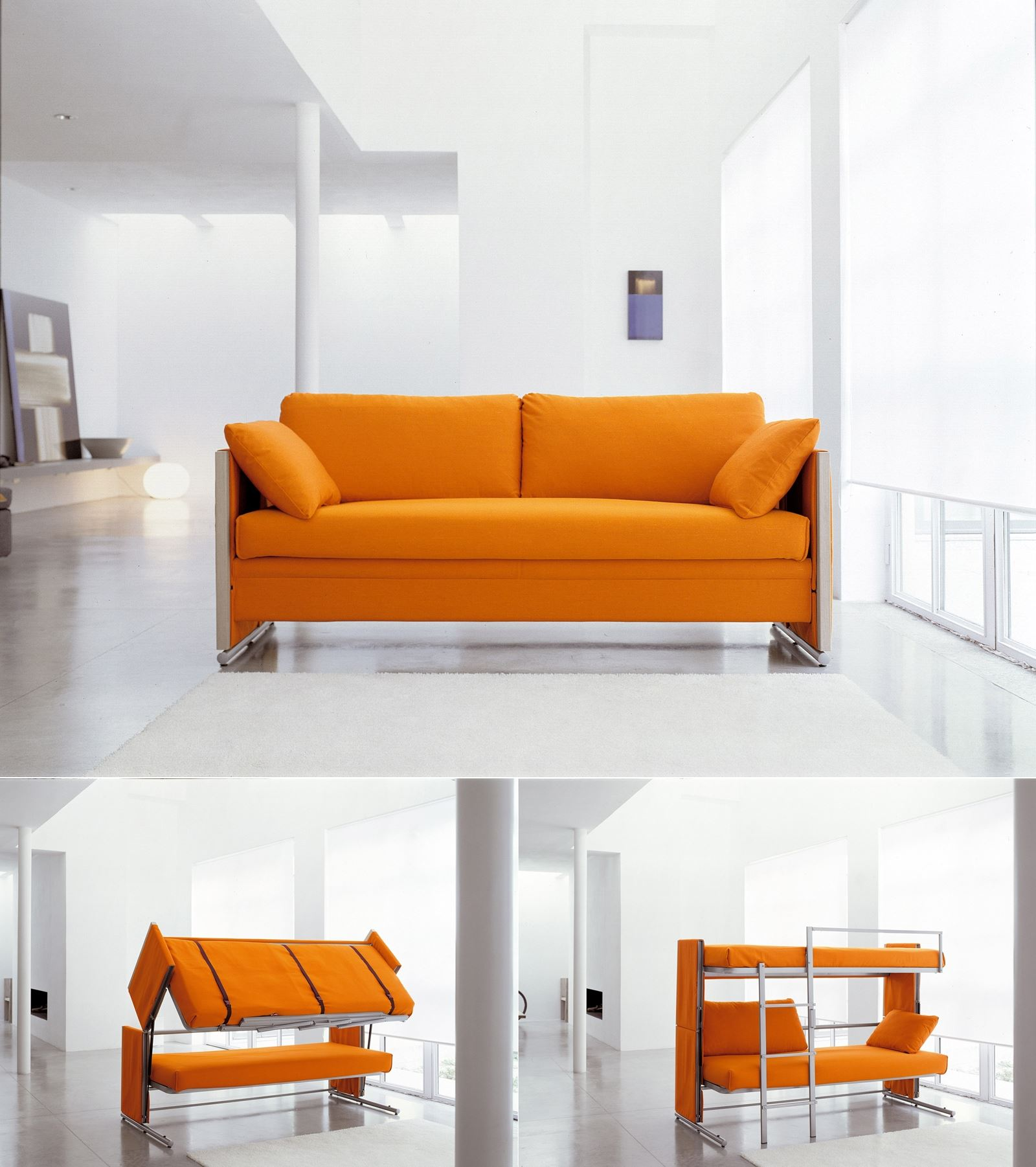 Magical Sofa Transforms Into A Bunk Bed In 10 Seconds Only