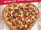 Thin Crust Heart-shaped Pizza from Domino's Pizza for Valentine