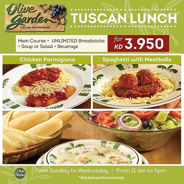 Olive Garden Tuscan Lunch Offer Details Website