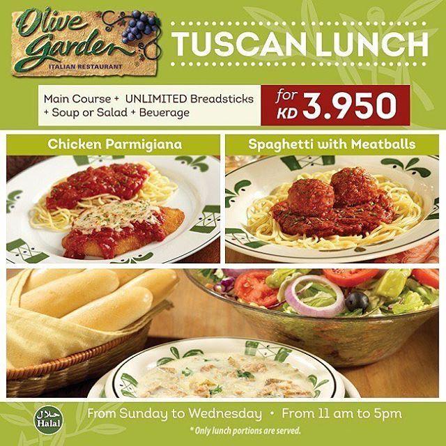 Olive Garden Tuscan Lunch Offer Details Website