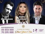 Nawal El Zoghbi with Melhem Zein in Casino Du Liban on NYE 2018