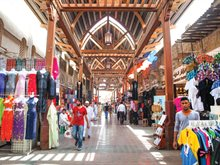 The Textile Souk or market in Dubai