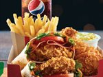 Double Wrap New Meal From KFC Kuwait Restaurant