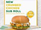 New Crumbed Chicken Sub Roll at Subway Kuwait