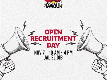 Malak Al Tawouk Restaurant Open Recruitment Day