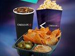 جميع وجباتك الخفيفة المفضلة من سينما سينسكيب متوفرة للطلب اونلاين