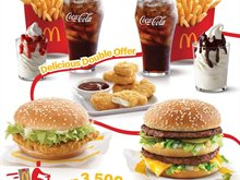 Go Double Now on McDelivery ... Delicious Double Offer