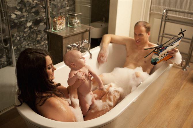 صور جريئة جدا للأمير وليم وزوجته