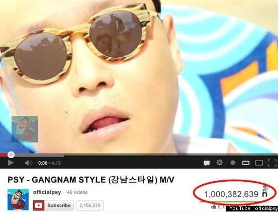Gangnam Style يتجاوز المليار مشاهده على اليوتيوب