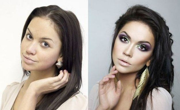 See how make up can make miracles!