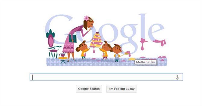 موقع جوجل العالمي يحتفل مع الامهات بعيدهن