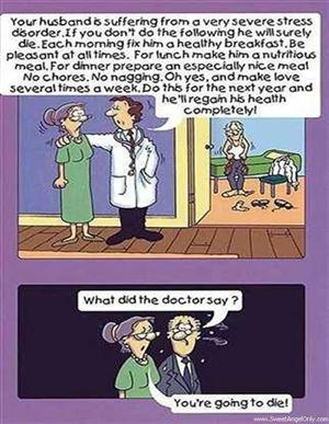 زيارة الزوجان لعيادة الطبيب