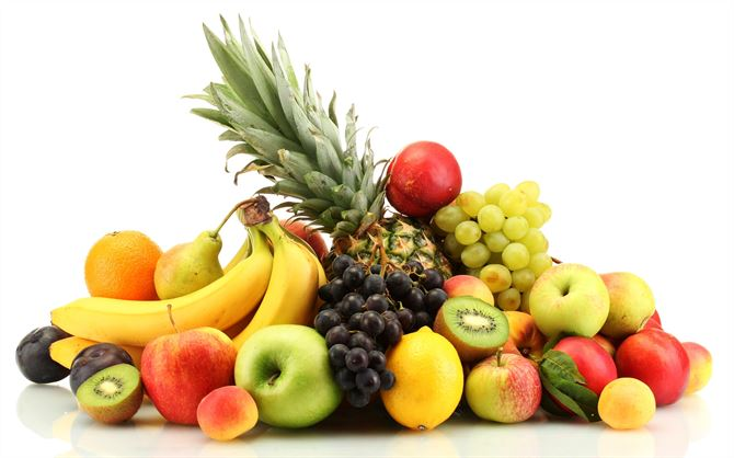 Sweet and colorful Summer Fruits