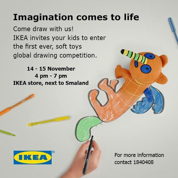 IKEA invites you to the global drawing competition this weekend!
