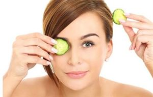 Cucumber Slices remedy for Puffy Eyes