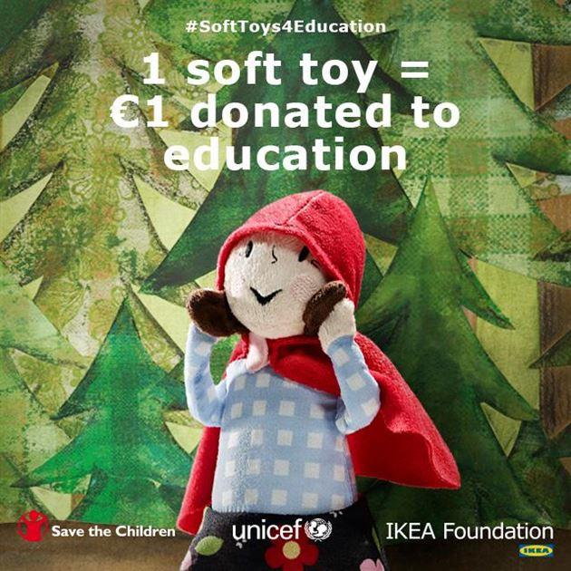اشتري دميتك الطرية من ايكيا الآن وساهم في دعم مشاريع تعليم الأطفال في العالم