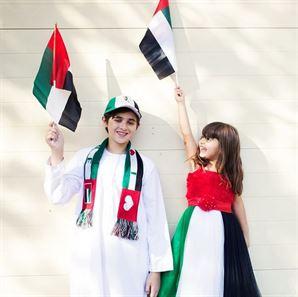 بالصور ... هكذا احتفلت  خبيرة التجميل جويل ماردينيان بالعيد الوطني الاماراتي