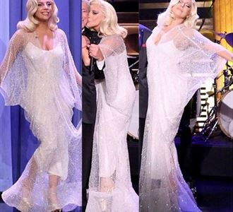 Lady Gaga in a dress by Yousef Aljasmi!