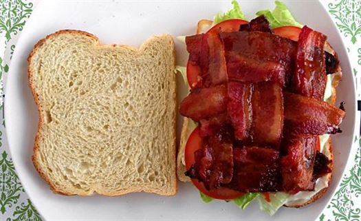 "How to prepare a ""Bacon in every bite"" sandwich"