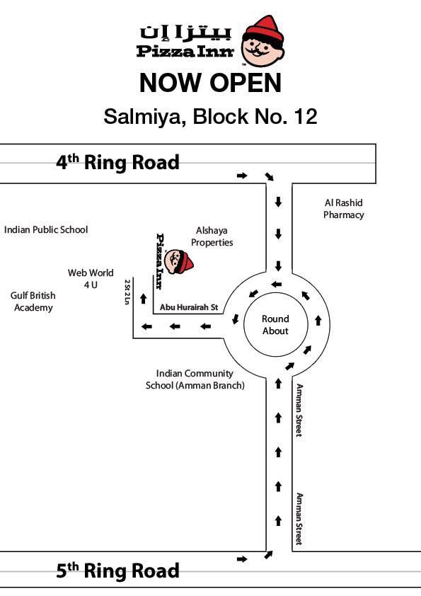New Pizza Inn branch now Open in Salmiya