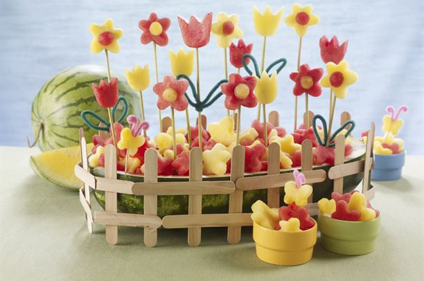 How to make a flower garden using Water Melon