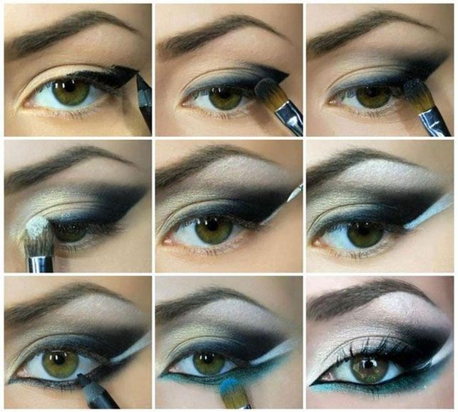 Elegant eye makeup step by step
