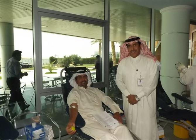 الحملة السابعة للتبرع بالدم لموظفي مجموعة الساير