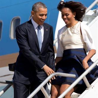 اوباما انقذ زوجته قبل ان تتحول الى مارلن مونرو