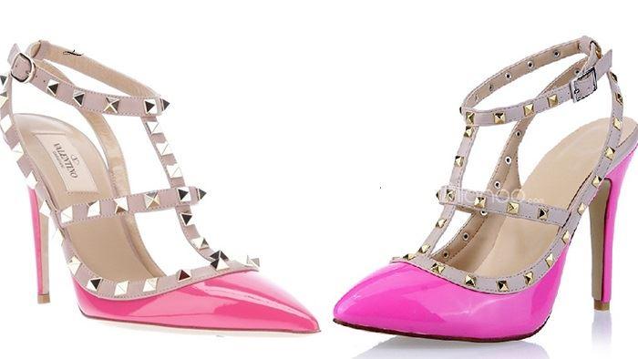 مقارنة بين حذاء فالنتينو الاصلي والتقليد