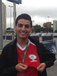 Mohammad Assaf in Sao Paulo to participate in the world cup