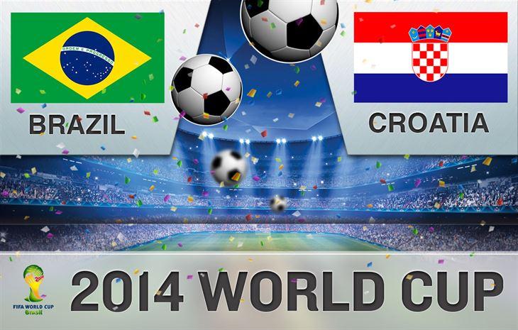 موعد المباراة الاولى لكاس العالم 2014