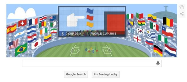 جوجل تشارك العالم آخر مباريات المونديال بين الارجنتين والمانيا