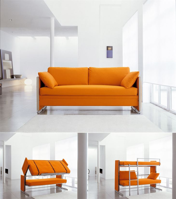 Magical Sofa transforms into a bunk bed in 10 seconds only!