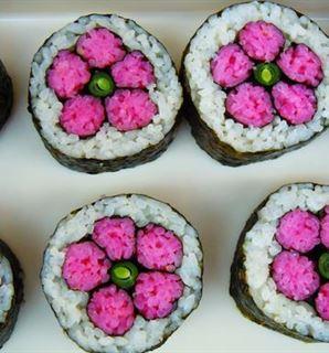 Photos of Sushi Art