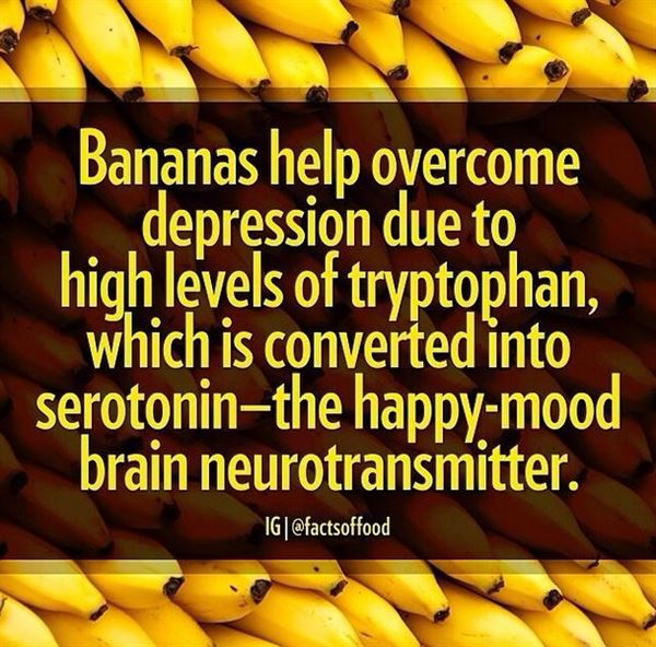 Do bananas help cure depression?