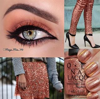 Beautiful head to toe color matching looks
