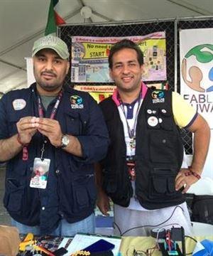 Kuwaiti engineers Nasser Al-Khaldi and Ahmad Al-Saleh