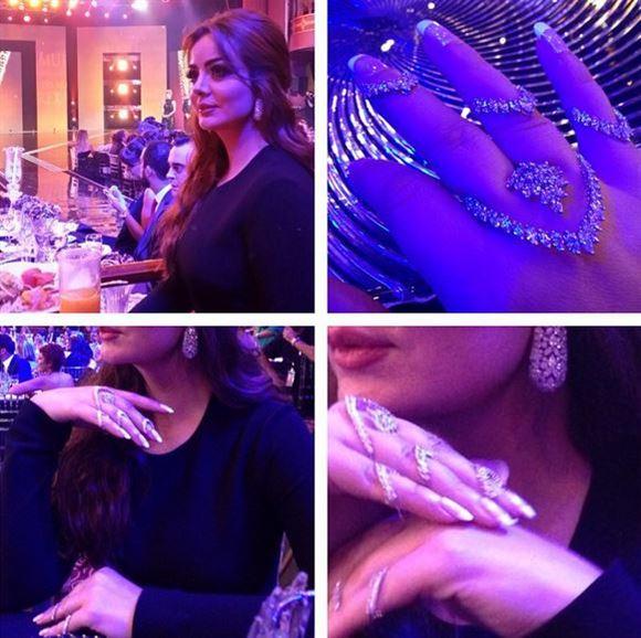 Alaa Dashti's Look in the Murex D'Or 2014