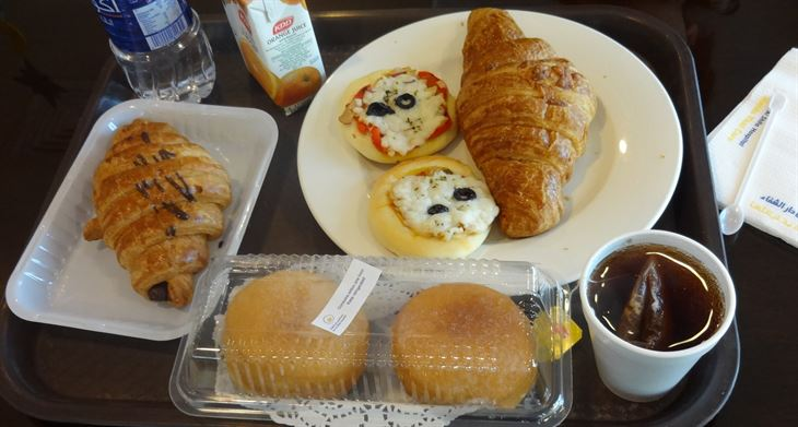 Breakfast at Dar Al Shifa's Cafeteria