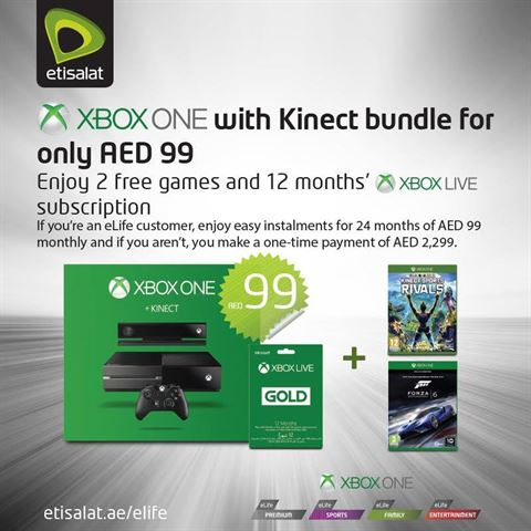 Xbox One bundle offer by Etisalat