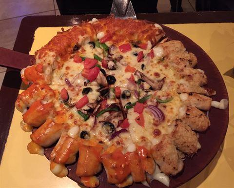 شكل التشيزي بايتس بيتزا