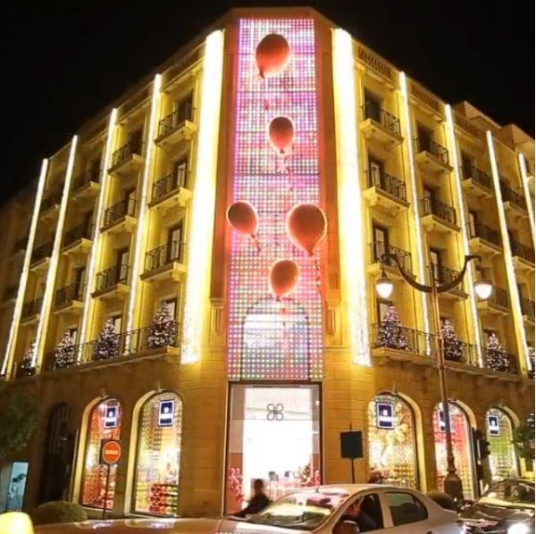 Patchi Christmas Decoration in Downtown Beirut