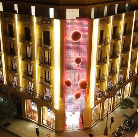 Patchi with Christmas lightnings in the heart of Beirut