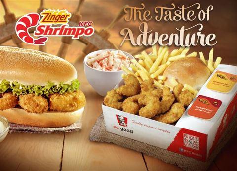Zinger Shrimpo meal by KFC