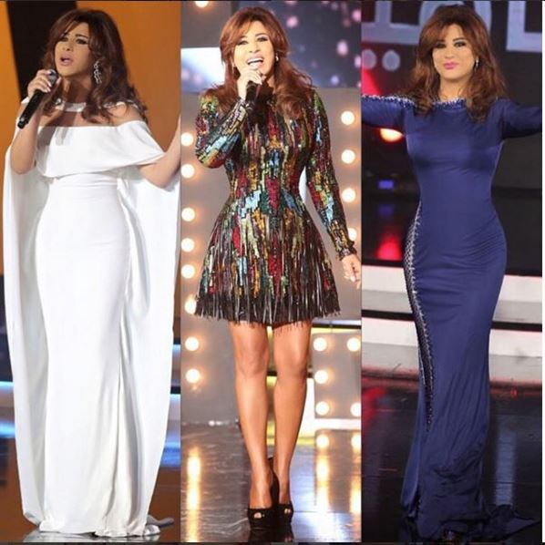 Najwa Karam looks in Celebrity Duets