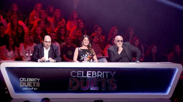 Celebrity Duets judges: Osama Rahbani, Mona AbouHamze and Tarek AbouJaoude