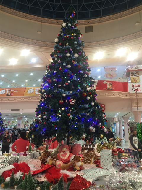 Big Christmas tree in City Center Salmiya