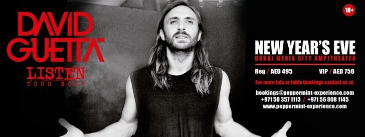David Guetta Dubai NYE 2016 Concert details